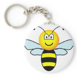 Bumble bee emoticon   keychains
