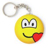 Love heart emoticon   keychains