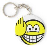 Halt smile   keychains
