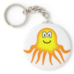 Octopus emoticon   keychains