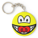 Dummy smile Baby pacifier  keychains
