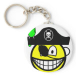 Pirate with parrot smile   keychains