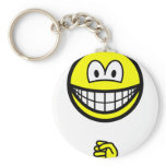 Rock smile rock - paper - scissors  keychains