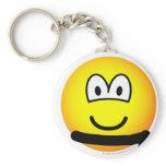 Black belt emoticon   keychains