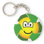 Recycle emoticon version II  keychains