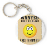Wanted poster emoticon   keychains