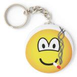Smoking emoticon   keychains