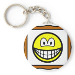 Picture frame smile   keychains