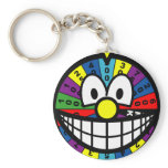 Wheel of fortune smile   keychains