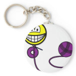 Crochet smile   keychains