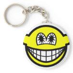 Star eyed smile   keychains