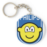 Philips buddy icon Let's make things buddy icon  keychains