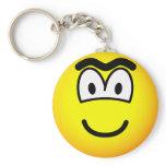Unibrow emoticon   keychains
