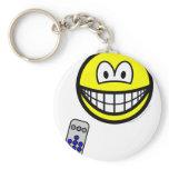Tv remote smile   keychains