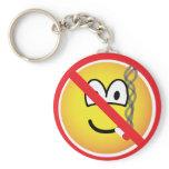 No smoking emoticon   keychains