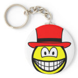 Red hat smile Six Thinking Hats - Emotions and Feelings  keychains