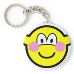 Blushing buddy icon Embarrassed  keychains