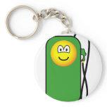 Gas station emoticon Petrol pump  keychains