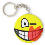 Slap smile slapped  keychains