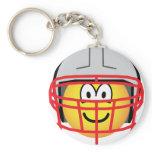 Football player emoticon   keychains