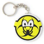 Biohazard buddy icon version II  keychains