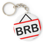 BRB smile  Be right back keychains