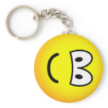 Fallen over emoticon Right  keychains