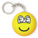 Pound eyed emoticon   keychains