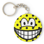 Polka dotted smile   keychains