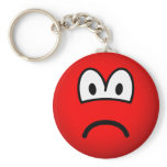 Sad red emoticon   keychains