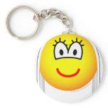 White haired emoticon   keychains