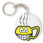 Cup smile Hot  keychains