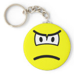 Scowling smile   keychains