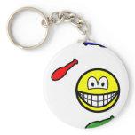 Juggling smile   keychains