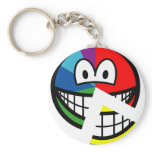 Pie chart smile Highlighted  keychains