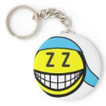 Sleeping cap smile   keychains