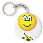 Scissors emoticon rock - paper - scissors  keychains