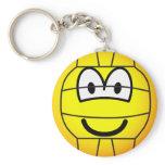 Volleyball emoticon   keychains