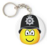 English bobby emoticon   keychains