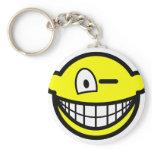 Wink smile   keychains