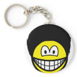 Afro smile   keychains