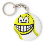 Virgo smile Zodiac sign  keychains