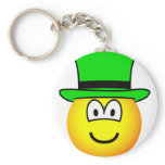 Green hat emoticon Six Thinking Hats - Creative Lateral Thinking  keychains