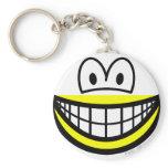 Half smile bottom  keychains