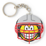Football player smile   keychains