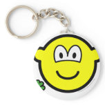 Good luck clover buddy icon Holding  keychains