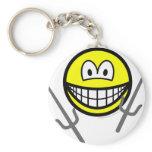 Sai smile martial arts  keychains