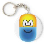 Pill emoticon   keychains