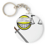 Justice smile   keychains