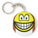 Brunette smile   keychains
